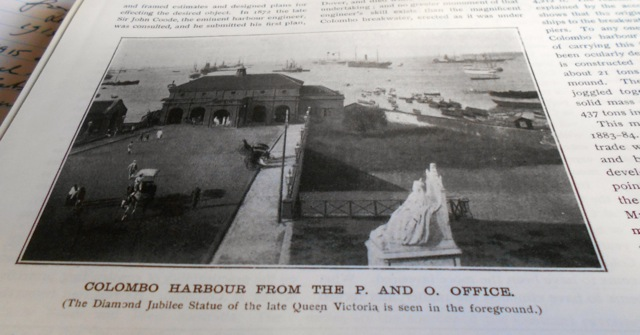 Queen Victoria's statue at the Colombo Harbour 1906
