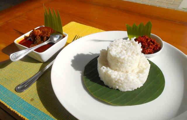 Spicy Sri Lankan breakfast