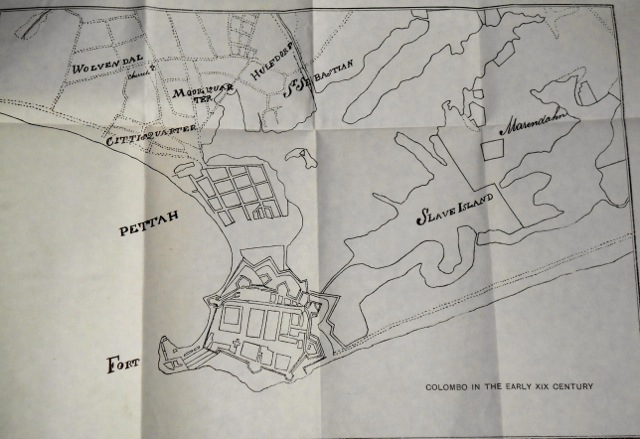 Colombo Fort and outskirts in the early 19th Century
