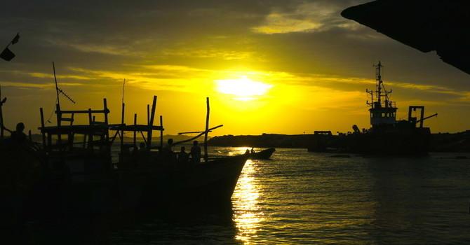 Sunrise by Kirindha Harbour