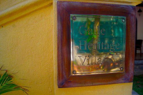 Galle  Heritage Villa live like a merchant sign