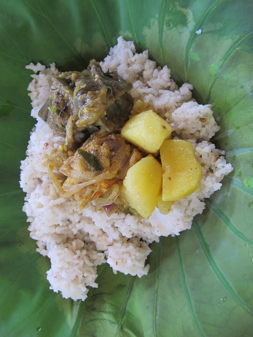 Arugam traditional rice and curry
