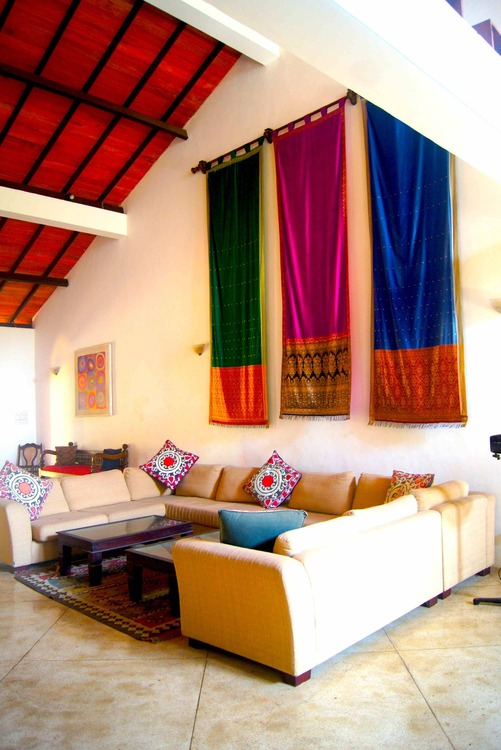 Galle Heritage Villa drapes make every stay a colourful experience in the old city
