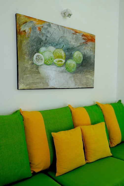 My room was passion and the painting of the passion fruit turned out to be none other than leading Sri Lankan artist Janaka De Silva